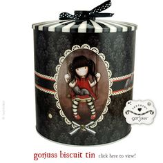 What a gorjuss tin! Fill it with biscuits and everyone will be happy! This lovely biscuit tin is a new addition to the Gorjuss Home collection, to take a closer look please click here. Happy Friday!