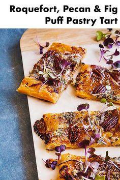 I love making this tart as it's so simple yet so full of deep flavors. Use the best quality puff pastry you can! You can use different types of cheese and nuts if you like too! Fig Recipes, Vegetarian Recipes, Fig Tart, Sweet Paul, Easy Holiday Recipes, Savory Tart, Puff Pastry Recipes, Appetisers, Appetizer Recipes