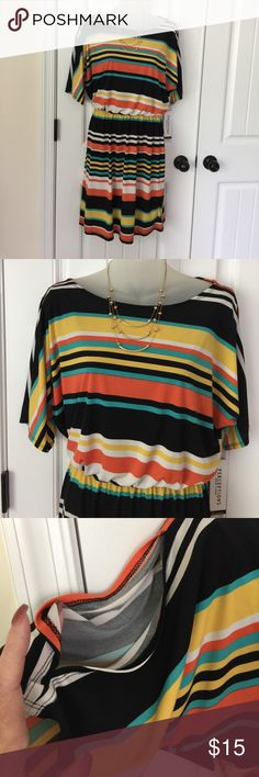 Cute Dress NWT Perceptions New York Dress Size 6. NWT. Slit sleeves. Elastic at the waist. In great condition with no known tears snags or stains. Comes from smoke free and clean home. Remember to save when you bundle. Thanks! Perceptions New York Dresses