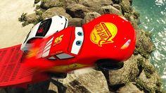 LIGHTNING MCQUEEN vs LAMBORGHINI AVENTADOR - Disney Pixar Cars Spiderman...