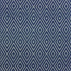 Dash & Albert - Diamond Rug - Navy/Ivory