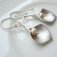 Calla Lily Earrings - Not on the high street