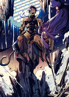 Ramses II and Nitocris Character Concept, Character Art, Character Design, Fate Zero, Fate Stay Night, Anime Love, Anime Guys, Anime Manga, Anime Art