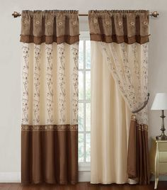 tan and chocolate curtains