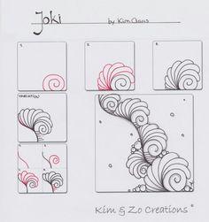 Joki filler style tangle pattern by