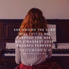 She Was Made With A Purpose Day 30/30 The Lord will fulfill his purpose for me; your steadfast love, O Lord, endures forever. Do not forsake the work of your hands. - Psalm 138:8 (ESV) As a reminder...