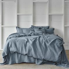 Amazing Pure Linen Bed Sheet Set In Aegean   Sheets On The Line   1 | Home |  Pinterest | Linen Bedding, Bed Linen And Linens