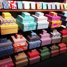 Beautiful Smock paper storage boxes from the National Stationery Show