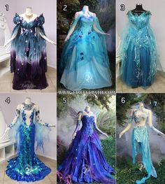 September Sapphire by Firefly-Path - Gorgeous Gowns Stunning Dresses, Pretty Dresses, Dress Outfits, Fashion Dresses, Fairy Outfits, Anime Outfits, Dress Shoes, Fantasy Gowns, Fairy Dress