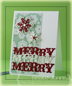 CAS Christmas card created with dies from @Spellbinders and @Taylored Expressions. Rhinestones are from @Want2Scrap Company and paper from @Echo Park Paper