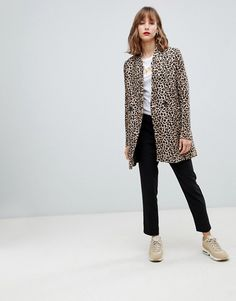 Stradivarius leopard print coat at ASOS. Shop this season's must haves with multiple delivery and return options (Ts&Cs apply). Leopard Print Coat, W Clothing, Campus Style, Clothes Horse, Fashion Online, Autumn Fashion, Plus Fashion, Fashion Ideas, Normcore
