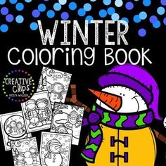 Enjoy this FREE Winter Coloring Book! Print all or some of the pages for your kiddos (or even yourself if you need a little stress-relief coloring session!