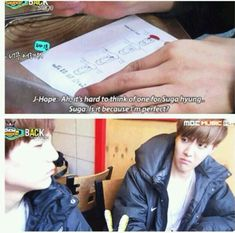 BTS; Yes, yes you are Suga, J-hope judging hard though