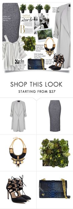 """""""SheIn blouse"""" by zalarupar ❤ liked on Polyvore featuring River Island, Topshop, Collections by Hayley, Ghibli, WithChic, crazyforfashion and shein"""