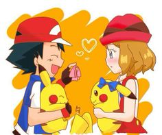 This is so CUTE and ADORABLE!!!!! XD :D :) ^_^ ^.^ ♡ Amourshipping with Pikachu ^.^ ♡ I give good credit to whoever made this  I found this in m.vk.com/amourshipping