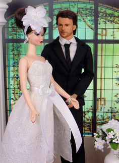 Morning Bride for Silkstone Barbie Victoire Roux  by HankieChic