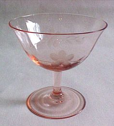 What are some different types of pink Depression glassware?
