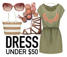 """""""dress simple"""" by suzannekobb on Polyvore featuring Charlotte Russe, Sun N' Sand, Dorothy Perkins and FOSSIL"""