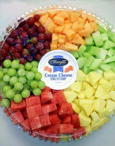 Fresh Fruit Platter by DoctorTonyStarkWho on DeviantArt Veggie Platters, Party Food Platters, Veggie Tray, Food Trays, Fruit Trays, Fruit Tray Displays, Cheese Fruit Platters, Veggie Food, Healthy Fruits