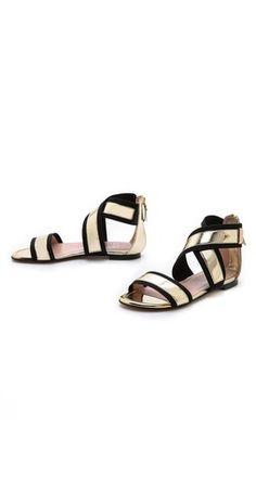 Stuart Weitzman Expo Flat Sandals   SHOPBOP