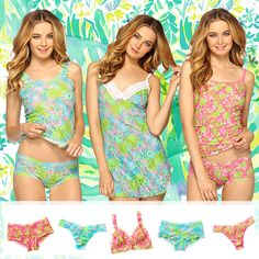 Lilly Pulitzer Hanky Panky Collection- Back in Stock Party Like Gatsby, Preppy Style, My Style, Pink Love, Pajamas Women, Resort Wear, Passion For Fashion, Dress To Impress, Spring Outfits