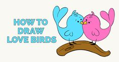 Learn to draw love birds. This step-by-step tutorial makes it easy. Kids and beginners alike can now draw great looking love birds. Craft Projects For Kids, Arts And Crafts Projects, Donut Drawing, Pikachu Drawing, Cartoon Birds, Popular Cartoons, Easy Arts And Crafts, Step By Step Drawing, Learn To Draw