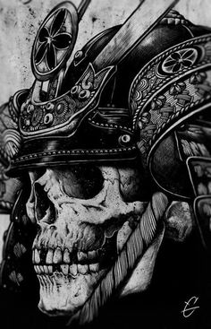samurai skull tattoo idea!
