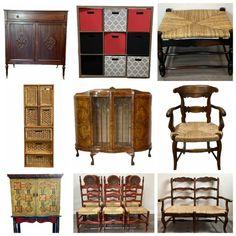 Wicker Furniture, Doll Furniture, Marshall Pottery, Online Estate Sales, Tea Pot Set, Asian Decor, Asian Style, Leather Sofa, Vintage Dolls