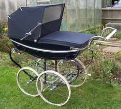VINTAGE SILVERCROSS COACHBUILT/CARRIAGE PRAM   and this one