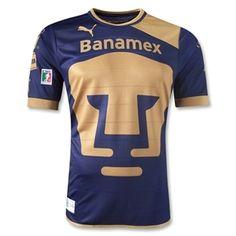 Pumas UNAM 12/13 Away Soccer Jersey - WorldSoccerShop.com