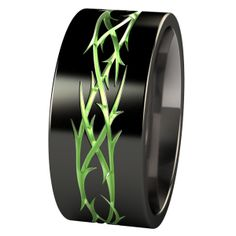 Thorns Black And Colored Carved Urban Jungle Anium Ring