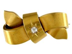 Victorian Diamond Bow Brooch from the Antique Jewellery Company, £375