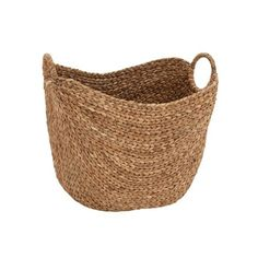 Textural Dream Seagrass Basket with Handles