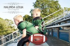 Child Picture Idea, Football, Malinda Leigh Photography