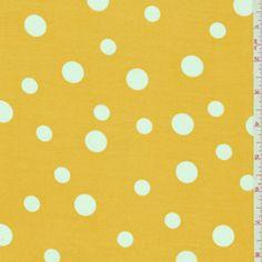 Golden Yellow Dot Shirting - Discount Fabrics