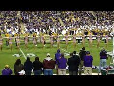 "2011 - #LSU Golden Girls - LSU vs W Kentucky - ""Grand Ole Flag"""