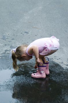 when it rains. dont forget to stop and play in the puddles