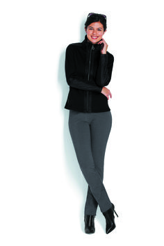 Mixed Bonded Jacket & Classic Ponte Ankle Pant http://www.myjockeyp2p.com/wprice