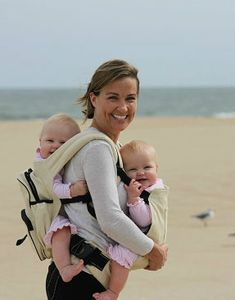 8fc1eb23c64 Twingaroo Twin Baby Carrier and Diaper Bag- Khaki