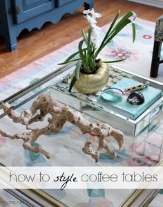 Hi Sugarplum | Simple Formula for How to Style Coffee Tables. Post shows 1 table style 6 ways!