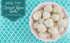 Healthy Coconut Lemon Balls - Gluten Free - Dairy Free