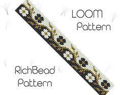 Beaded loom bracelet pattern PDF seed bead bracelet DIY