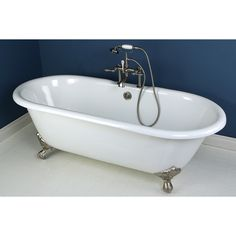 Fashion Plumbing - PVCT7D663013NB-7D-PKG Polished Chrome series 66 x 30 inch double ended Cast Iron Clawfoot tub value packs, $1,299.00 [5% Discount w/ Free Shipping Included] (http://www.fashionplumbing.com/princeton-brass-pvct7d663013nb-7d-pkg-series-66-x-30-inch-double-ended-cast-iron-clawfoot-tub-value-packs/)