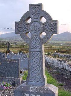 Celtic Cross at Kilmalkedar Church - Dingle, County of Kerry, Ireland