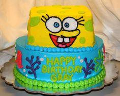 SpongeBob themed birthday cake