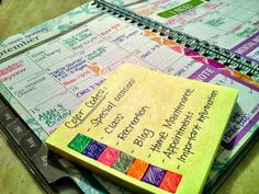 ABFOL Planner Challenge Part 2/2 I always love looking at how people color-code and categorize their lives.