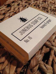 Honey & Ginger handmade soap  Available from Junebug Soap Co. at www.etsy.com/shop/JunebugSoapCo