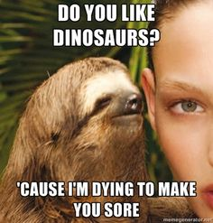 Haha....these are horrible but oh so funny! rape sloth meme.