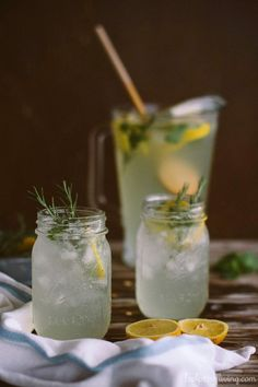 Mint and Rosemary Lemonade with Vanilla I foolproofliving.com