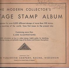 1935 The Modern Collector's Stamp Album - http://stamps.goshoppins.com/stamp-publications-supplies/1935-the-modern-collectors-stamp-album/